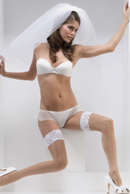 lingerie stockings Bride